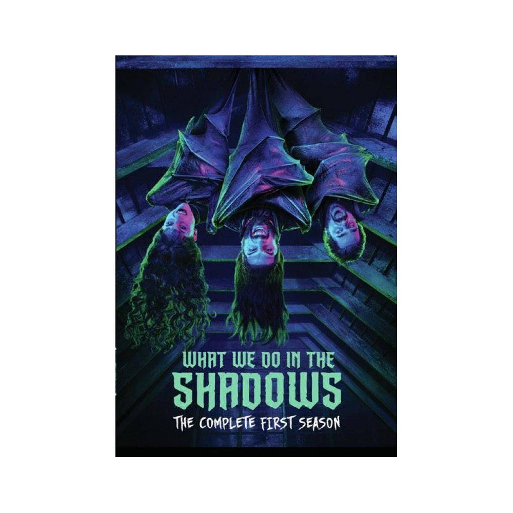 What We Do in the Shadows: The Complete First Season (DVD)(2019) What We Do in the Shadows follows four vampires whove lived together for hundreds of years. After an unexpected visit from their dark lord and leader, they're reminded of what they were initially tasked with upon their arrival in Staten Island over a hundred years ago total and complete domination of the New World. But what exactly is the best way to go about achieving said domination?