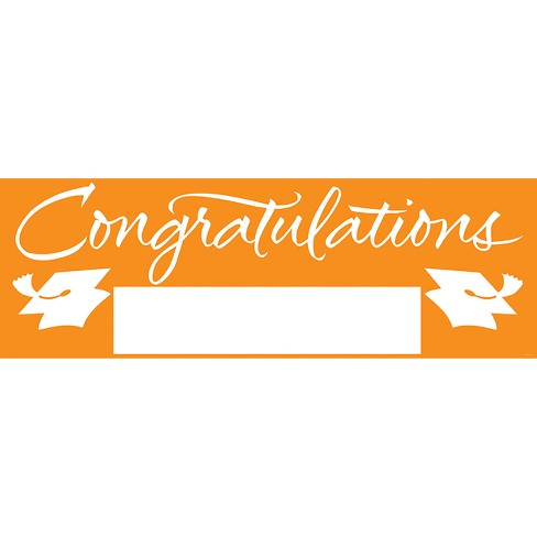 orange congratulations graduation party banner target