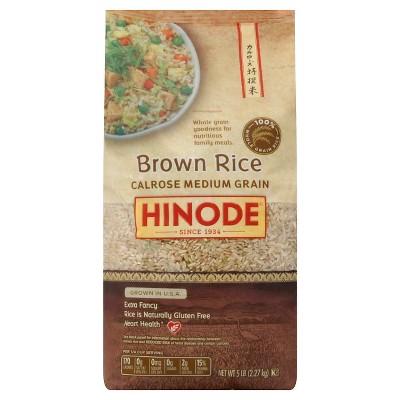 Hinode Medium Grain Calrose Brown Rice - 5lbs