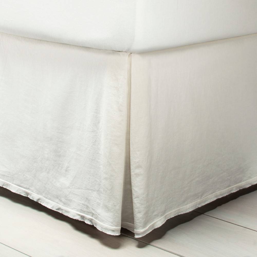 Twin Bedskirt Sour Cream - Hearth & Hand with Magnolia, White