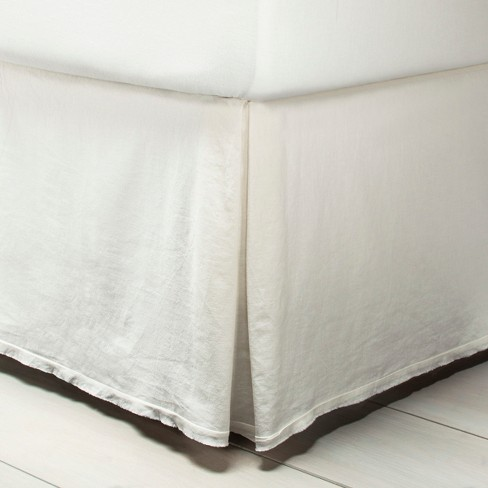 Bedskirt Linen Blend - Sour Cream - Hearth & Hand™ with Magnolia - image 1 of 1