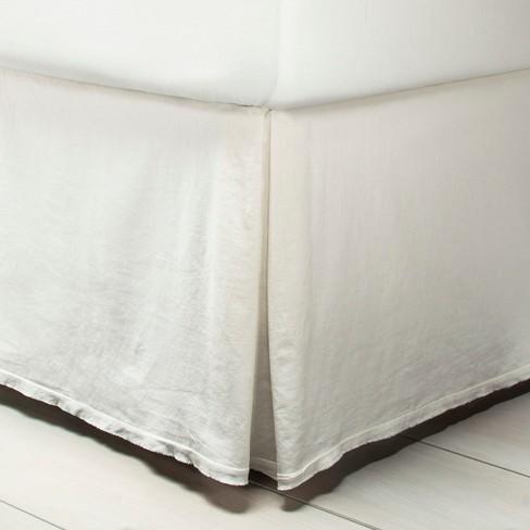 Linen Bed Skirt King.Bedskirt Linen Blend Sour Cream Hearth Hand With Magnolia