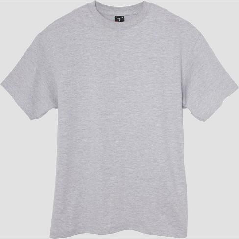 e02fbb41 Hanes Men's Tall Short Sleeve Beefy T-Shirt - Light Steel 2XLT : Target