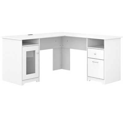 Bush Furniture Cabot 60 L-Shaped Computer Desk, White WC31930K