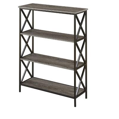 Tucson 4 Tier Bookcase Weathered Gray 42  - Johar Furniture