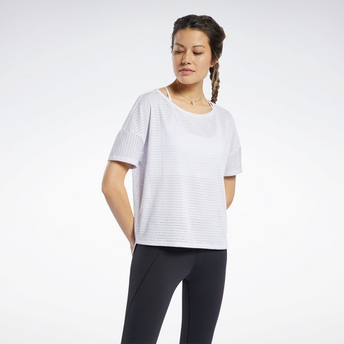 Reebok Perforated Tee Womens Athletic T-Shirts - image 1 of 4
