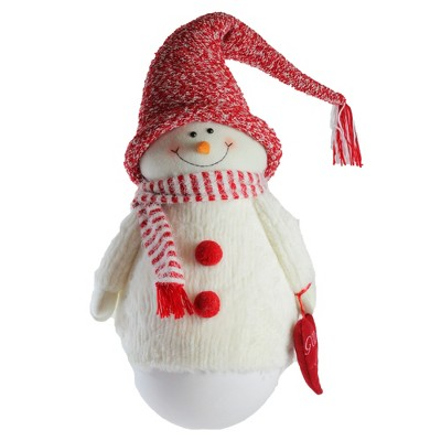 "Northlight 37"" Red and White Tumbling 'Sam the Snowman' Christmas Tabletop Figurine"