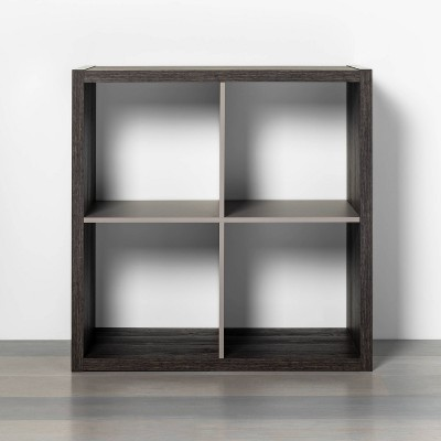 4 Cube Storage Organizer Brown with Gray Accents - Threshold™