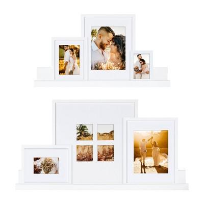 8pc Gallery Frame Box Set White - Kate & Laurel All Things Decor