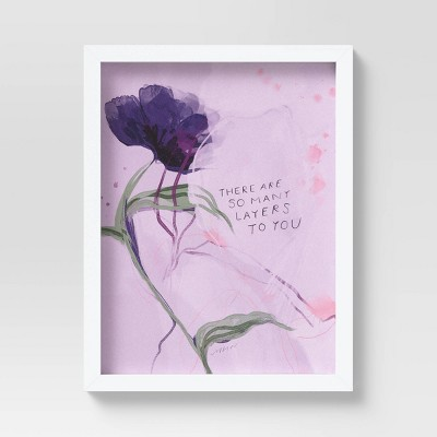 """12"""" x 9"""" Quote by Morgan Harper Nichols Framed Wall Canvas Pink"""