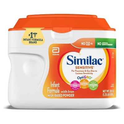 Similac Sensitive For Fussiness and Gas Infant Formula with Iron Powder - 22.5oz