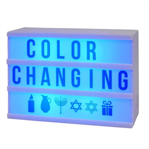 Battery Operated Mini Led Light Box Blue Letter Cards Room Essentials
