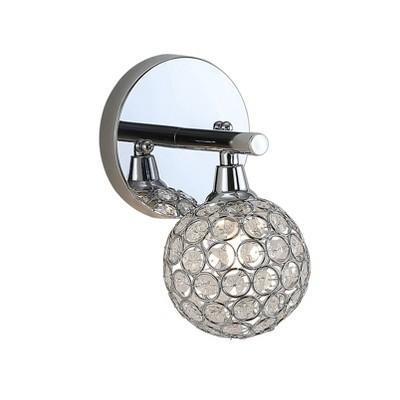 LED Iron/Glass Maeve Contemporary Glam Wall Light Chrome - JONATHAN Y