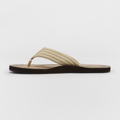daa7c3567693 Men s Remington Flip Flop Sandals - Goodfellow   Co™ Tan   Target