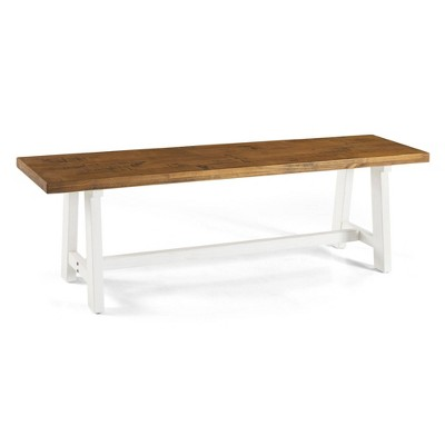 "60"" Solid Wood Dining Bench - Saracina Home"