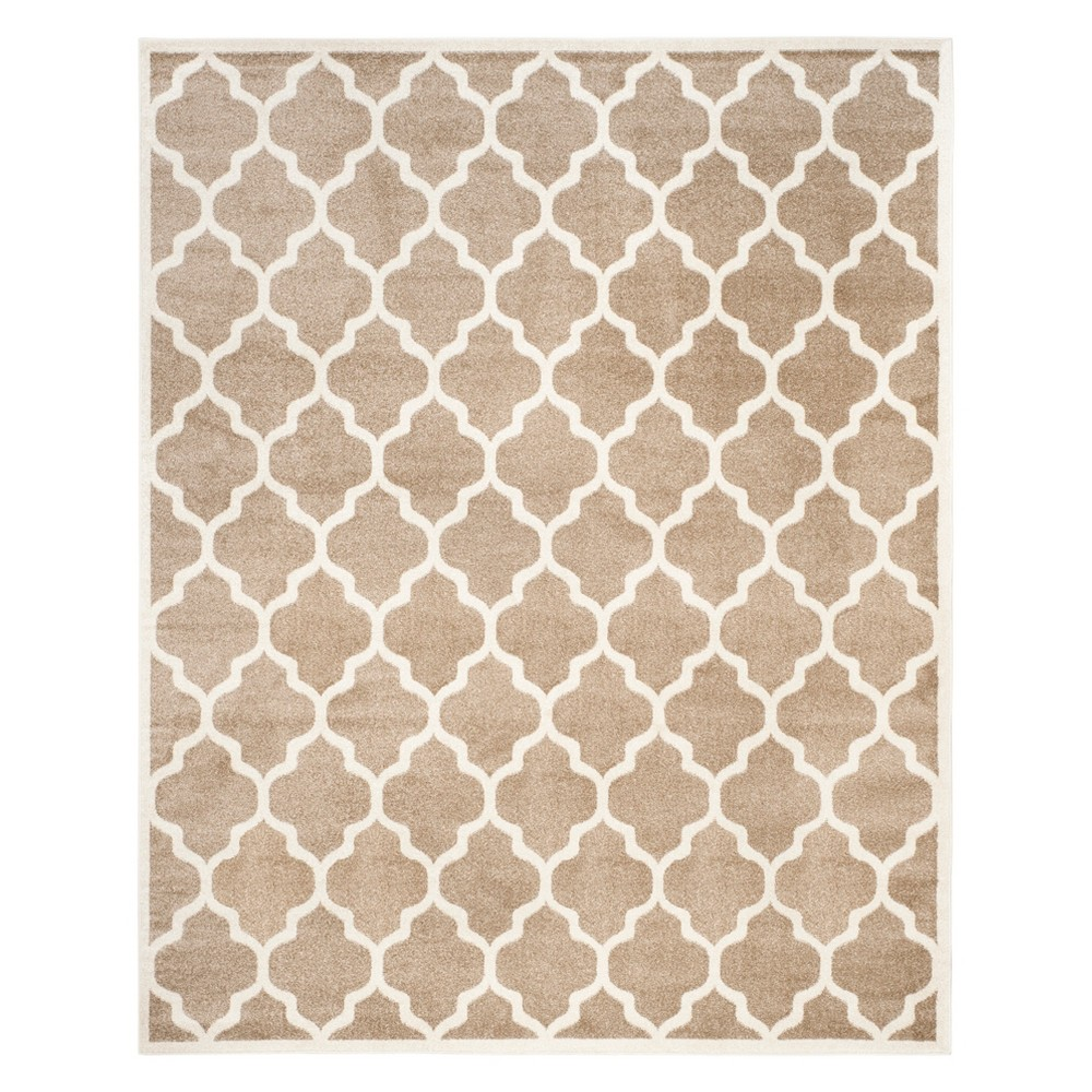 Rectangle 9' X 12' Outer Patio Rug - Wheat / Beige - Safavieh, Brown