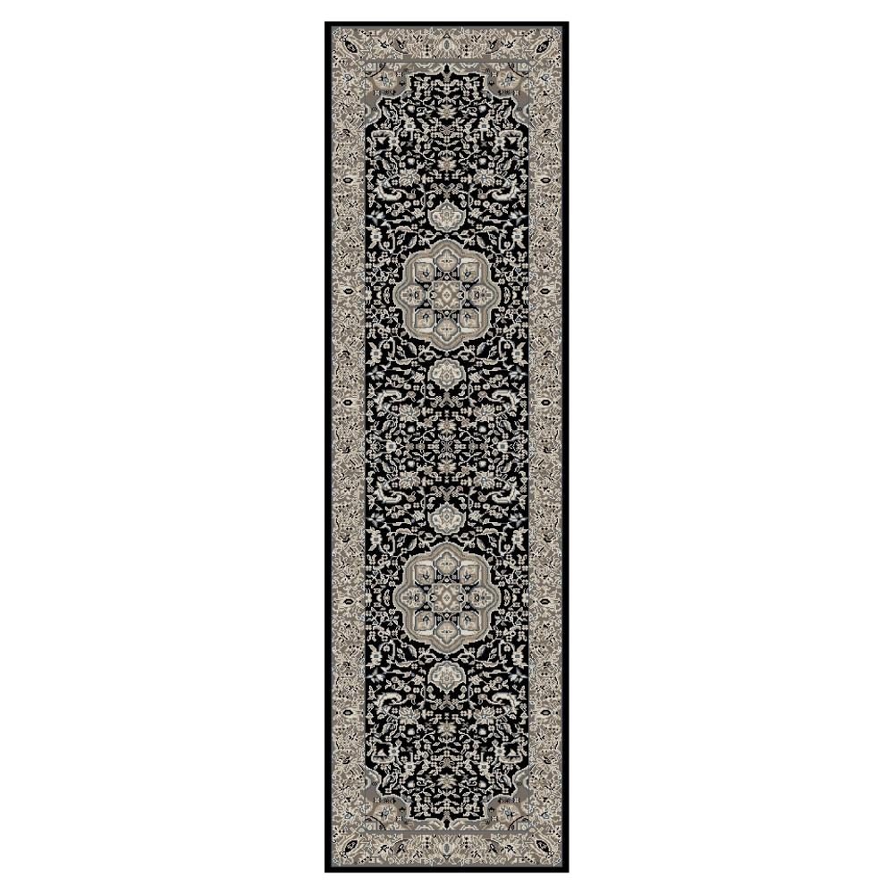 Black Classic Woven Area Rug - (2'X8') - Art Carpet