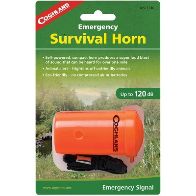 Coghlan's Emergency Survival Horn Animal Alert for Hiking Camping Rescue Whistle