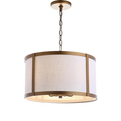 "17"" Metal Thatcher Pendant Ceiling Light (Includes Energy Efficient Light Bulb) - JONATHAN Y"