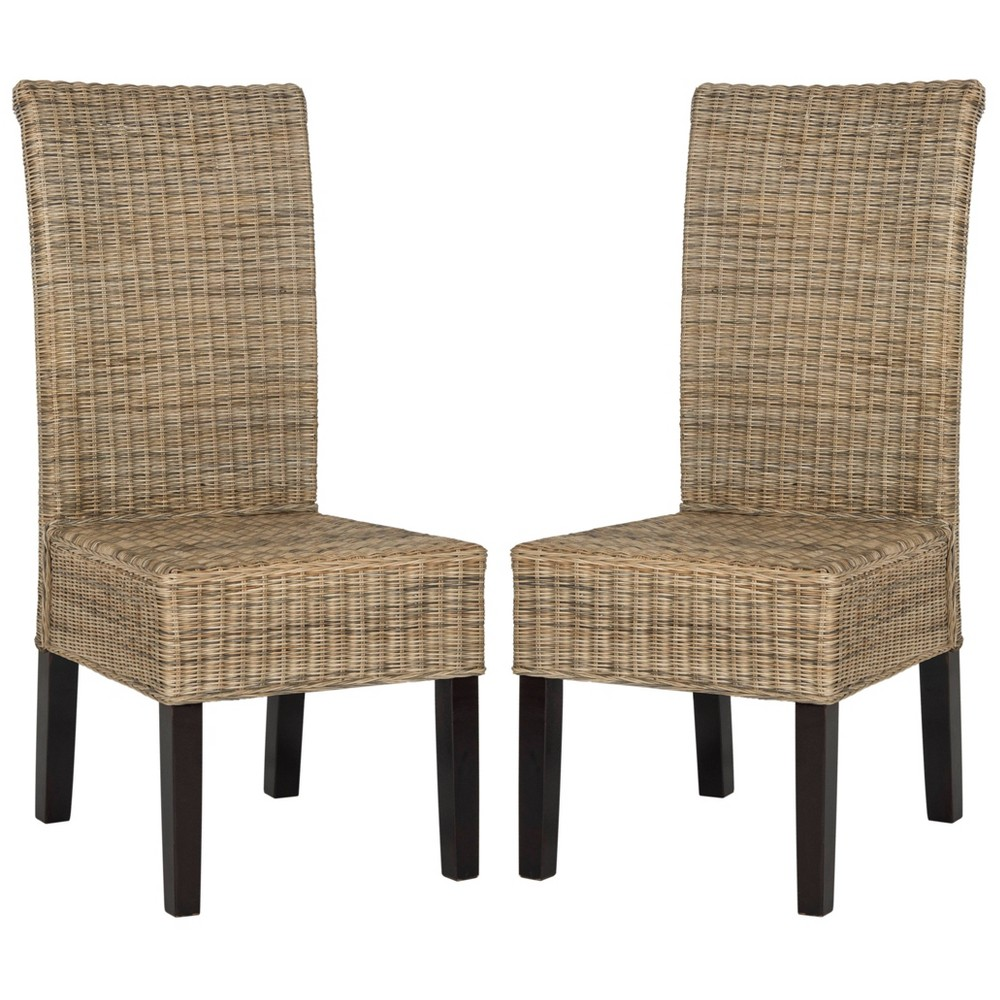 Arjun Wicker Dining Chair (Set of 2) - Safavieh, Natural