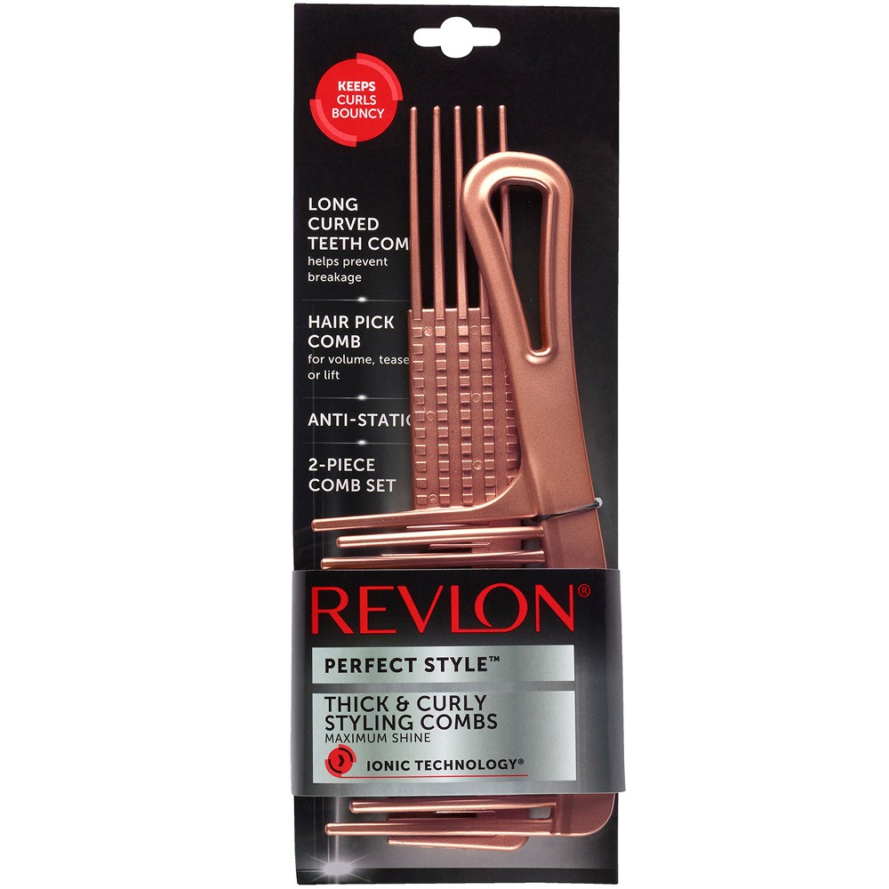 Revlon Perfect Style Thick & Curly Comb Set - 2pc