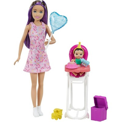 Barbie Skipper Babysitters Inc Dolls and Playset - Brown/Purple Hair