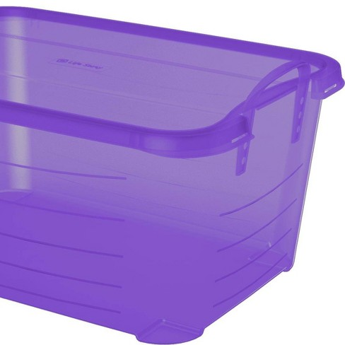 Life Story Purple Stackable Closet & Storage Box 55 Quart Containers (12 Pack) - image 1 of 4