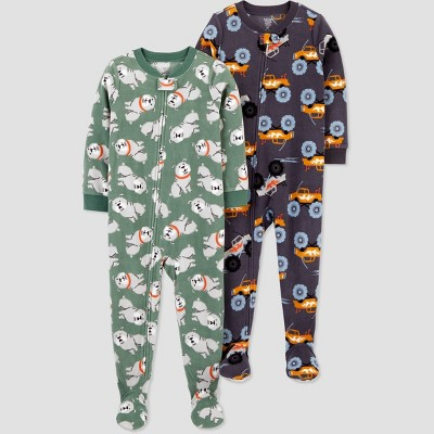 Baby Boys' 2pk Dog Footed Pajama - Just One You® made by carter's Blue 9M