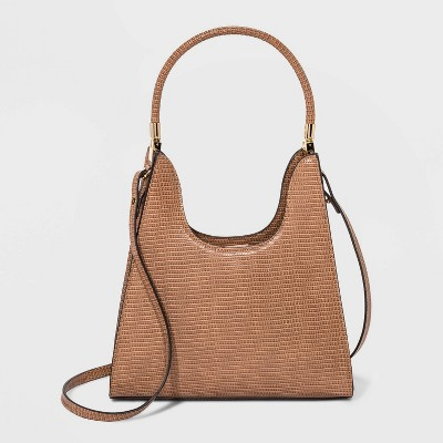 Trapezoid Mini Magnetic Closure Satchel Handbag - A New Day™ Camel