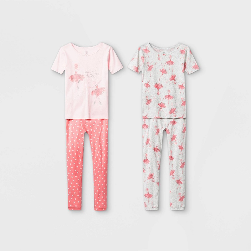 Girls 39 4pc Ballerina Pajama Set Just One You 174 Made By Carter 39 S Pink 5