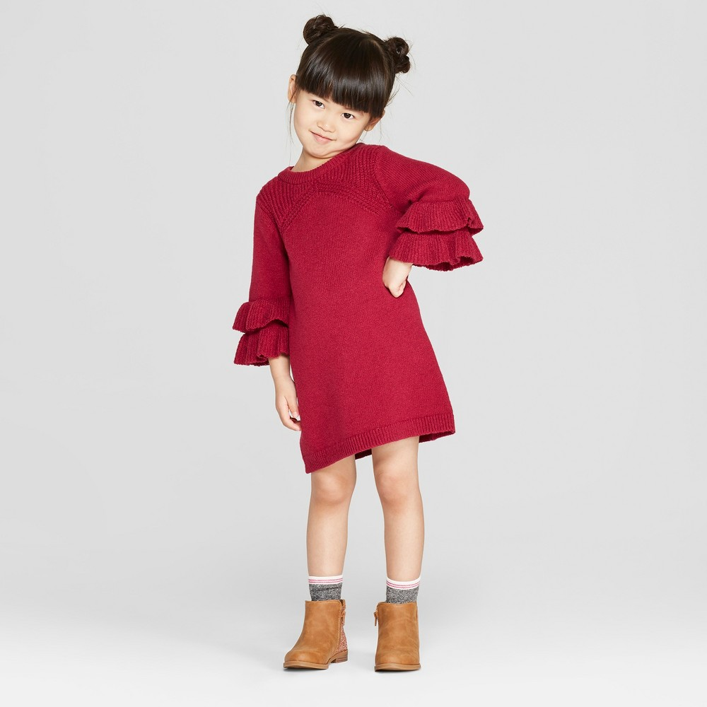 Toddler Girls' Sweater Dress - Genuine Kids from OshKosh Berry Red 2T, Pink/Red was $19.98 now $6.99 (65.0% off)