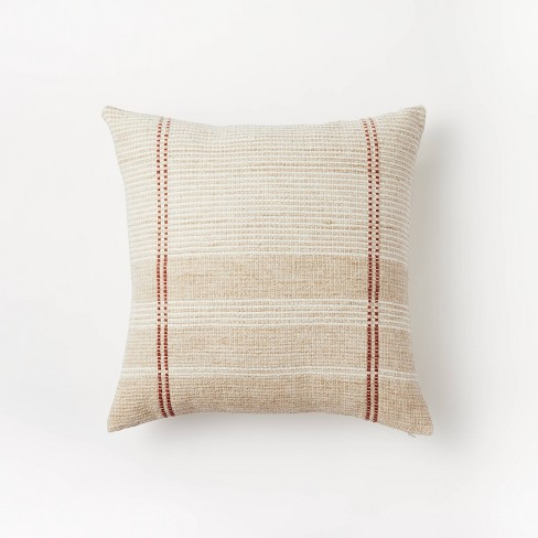 Woven Striped Throw Pillow Neutral - Threshold™ designed with Studio McGee - image 1 of 4