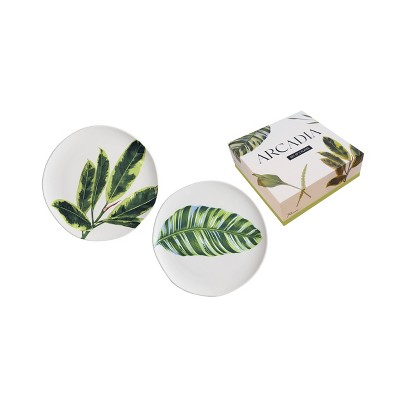 "7"" 2pk Porcelain Arcadia Plates - Rosanna"