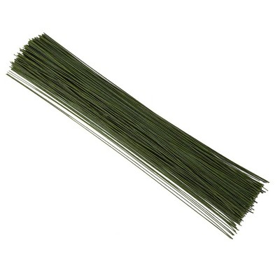300 Piece Floral Stem Wire for Bouquets, Flower Arrangements and Diy Crafts, Wrapped 22 Gauge 16 Inches, Green