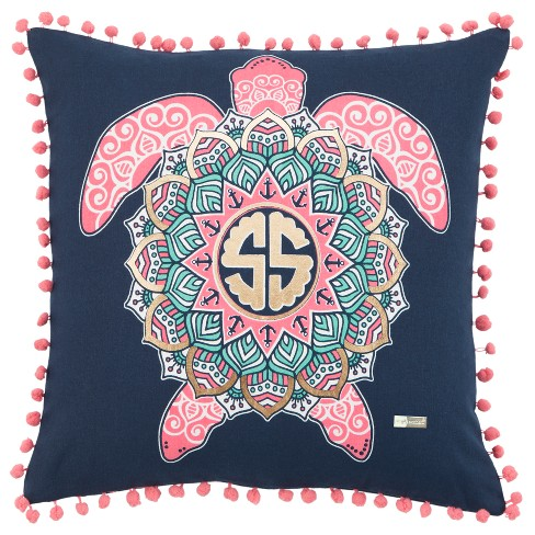 Simply Southern Animal Print Throw Pillow Blue - Rizzy Home - image 1 of 3