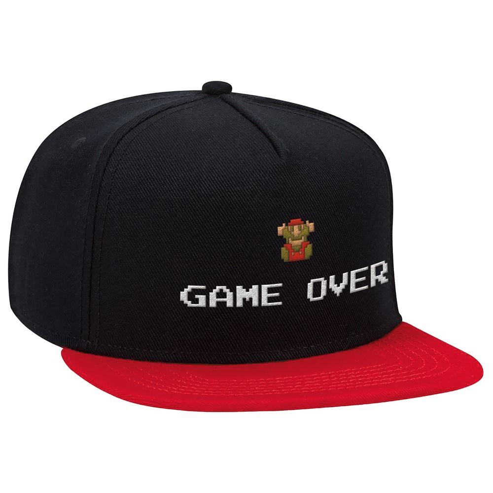 Nintendo Super Mario Brimmed Hat - Game Over, Kids Unisex, Black