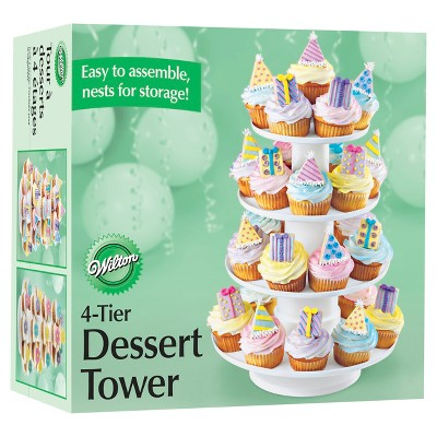 Wilton 4-Tier Cupcake and Dessert Tower