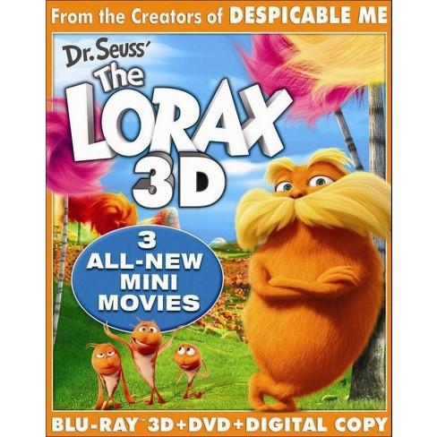 Dr. Seuss' The Lorax (3 Discs) (Includes Digital Copy) (UltraViolet) (3D/2D) (Blu-ray/DVD) (Widescreen) - image 1 of 1