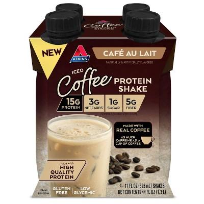 Atkins Ready to Drink Shake - Iced Coffee Cafe Au Lait - 4pk