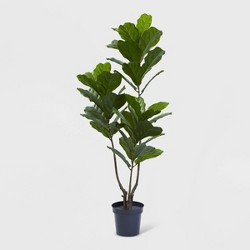 "65"" Fiddle Leaf Tree UV Resistant - Nearly Natural"