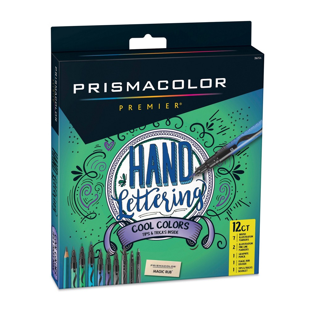 Image of Prismacolor 12ct Hand Lettering Cool Colors