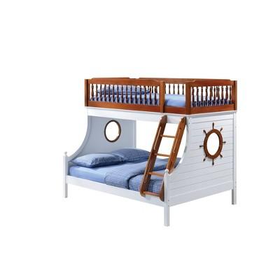 Twin Farah Kids' Bunk Bed Oak/White - Acme Furniture