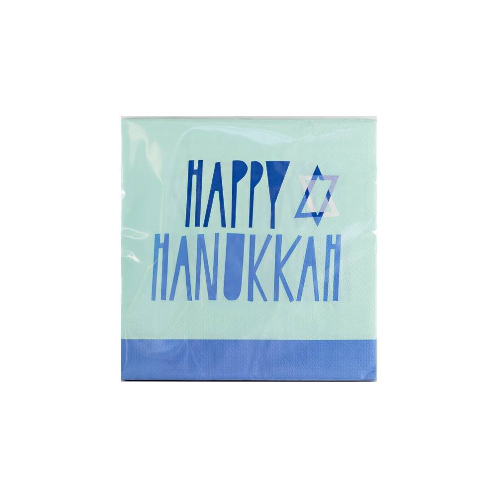 Image of 20ct Happy Hanukkah Disposable Lunch Napkin