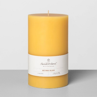 """4""""x7""""Beeswax Pillar Candle - Hearth & Hand™ with Magnolia"""