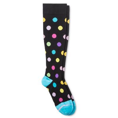 Dr. Motion Women's Mild Compression Giant Dots Knee High Socks 4-10