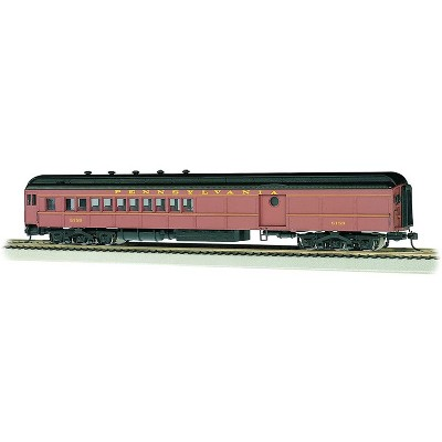 Bachmann Industries 13607 PRR #5159 Post-War Train Car with Round Door Window, Red, Die-cast Trucks, Metal Wheels and E-Z Mate Couplers