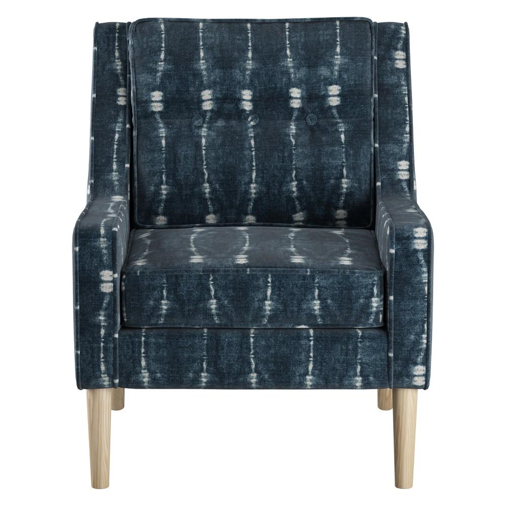 Boho Button Arm Chair Bali Indigo - Skyline Furniture