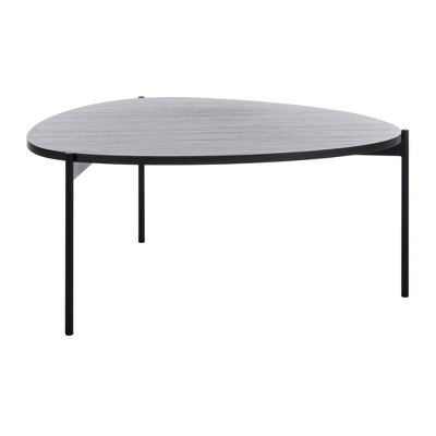 Sven Coffee Table Dark Gray Oak/Black - Safavieh