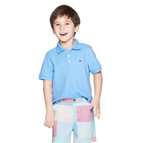 57172e95 Toddler Boys' Short Sleeve Polo Shirt - Light Blue - Vineyard Vines® For  Target : Target