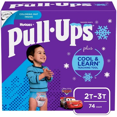 Huggies Pull-Ups Boys' Cool & Learn Training Pants - Size 2T-3T (74ct)